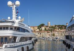 Cannes Old Town and Harbor - South of France Stock Photos