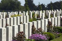 War Cemetery - The Somme - France Stock Photos