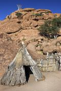 Namibian bushman dwelling - Namibia Stock Photos
