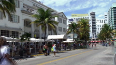 Betsy Ross hotel in the Miami Beach Art Deco District Stock Footage