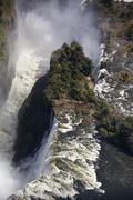 Aerial view of Victoria Falls - Zimbabwe - stock photo
