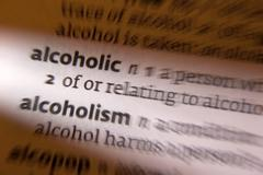 Alcoholic - Alcoholism - Dictionary Definition Stock Photos