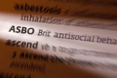 Stock Photo of ASBO - Dictionary Definition