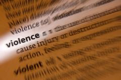 Violence - Volent - Dictionary Definition Stock Photos