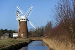 Horsey Windpump - Norfolk Broads - England Stock Photos