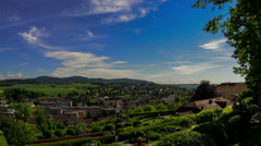 Melk village and abbey park time lapse 4K Stock Footage