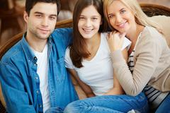 Affectionate family - stock photo