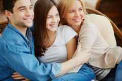 Affectionate family Stock Photos