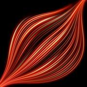 Abstract fiery lightning. EPS 10 Stock Illustration