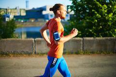 Sportsman jogging - stock photo