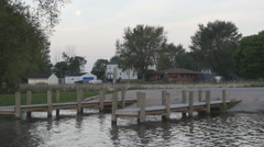 Boat Landing - Lake Access Stock Footage