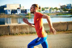 Active sportsman - stock photo