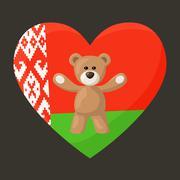 Belarusian Teddy Bears - stock illustration