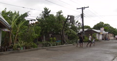 Kids Play Basketball On Street In Philippines Stock Footage