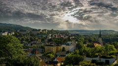 Melk village castle and church 4K Stock Footage