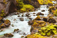 River in the gorges - stock photo
