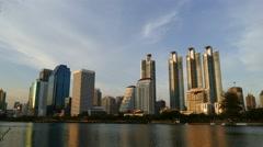 Sunset at Bangkok. Stock Footage