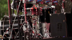 Concert Outdoor Stage Performance Area Stock Footage