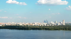 Moscow panorama at daytime, time lapse Stock Footage