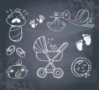 Stock Illustration of Infant Icon set