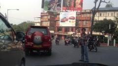 Driving Around Kathmandu - Heavy Traffic Stock Footage