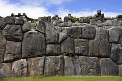 Inca stonework - Sacsayhuaman - Peru - stock photo