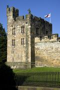 Alnwick Castle - Northumberland - England Stock Photos