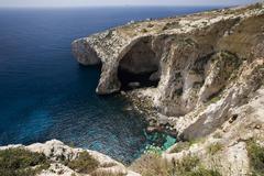 Blue Grotto - Malta - stock photo