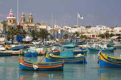 Marsaxlokk Harbour - Malta - stock photo