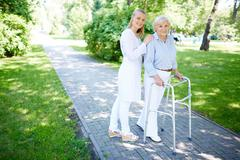 Clinician and her patient Stock Photos