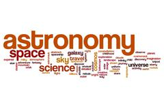 Stock Illustration of Astronomy word cloud concept