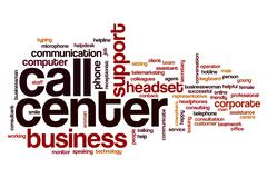 Call center word cloud concept Stock Illustration