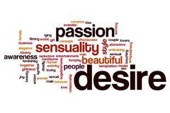 Desire word cloud concept Stock Illustration