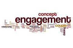 Engagement word cloud concept - stock illustration