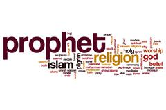Prophet word cloud concept Stock Illustration