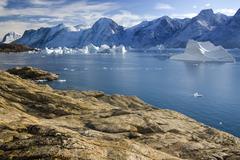 Northwest Fjord - Scoresbysund - Greenland - stock photo