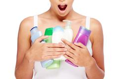 Greedy for toiletries Stock Photos