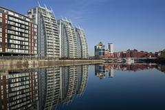 Salford Quays - Manchester - United Kingdom - stock photo