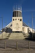 Roman Catholic Cathedral - Liverpool - England - stock photo