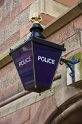 Stock Photo of Police Station Blue Lamp - England