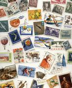 20th Century Polish Postage Stamps - stock photo