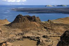 Volcanic landscape - Bartolome - Galapagos Islands - stock photo