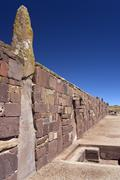 Tiwanaku Pre-Columbian - La Paz - Bolivia Stock Photos