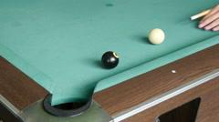 Scores Black billiard ball Arkistovideo