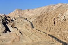 Desert Highway - Atacama Desert - Chile - stock photo