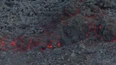 Etna lava AA Stock Footage