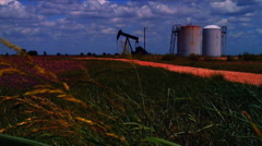 Texas oil well - stock footage