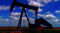 Oil Well running - stock footage