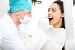 Dental examination Stock Photos