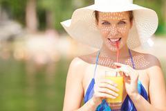 Refreshment - stock photo